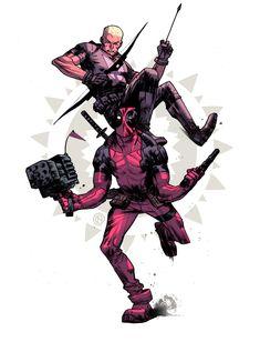 #Deadpool #Fan #Art. (Hawkeye n Deadpool #2) By:ChristianNauck. (THE * 3 * STÅR * ÅWARD OF: AW YEAH, IT'S MAJOR ÅWESOMENESS!!!™)[THANK Ü 4 PINNING!!!<·><]<©>ÅÅÅ+(OB4E)