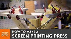 e7eaf5bf4 88 mejores imágenes de Homemade Screen Printing Press   Printing ...