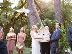 Releasing doves at wedding ceremony... Wedding ideas for brides, grooms, parents & planners ... https://itunes.apple.com/us/app/the-gold-wedding-planner/id498112599?ls=1=8 … plus how to organise an entire wedding ♥ The Gold Wedding Planner iPhone App ♥