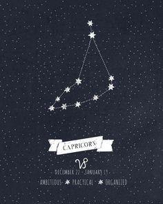 Capricorn Constellation Print Art Print More