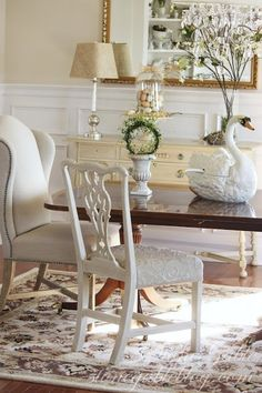 DIY 3/3:  ONE PAINTED AND REUPHOLSTERED DINING ROOM CHAIR! - StoneGable