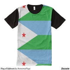 Flag of Djibouti All-Over Print T-Shirt