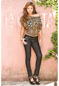 leopard top from body central