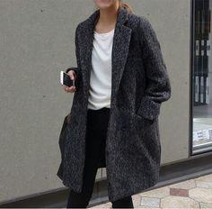 코트 따뜻해보임