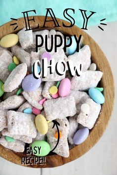 This classic puppy chow is so easy and so delicious. It's the perfect snack for any occasion from movie night to a potluck! #puppychow #easypuppychow Puppy Chow Recipes, Incredible Recipes, Holiday Recipes, Party Recipes, Barbecue Recipes, Creamy Peanut Butter, Pinterest Recipes, Chow Chow