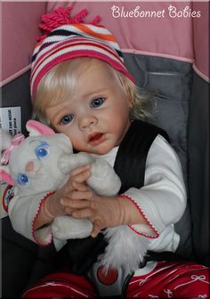 "Karola Wegerich's ""Ella"" Reborn Baby Doll by Bluebonnet Babies. On eBay early 2017!"