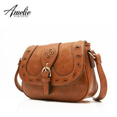 Hollow Out casual Fashion solid PU shoulder bags ladies round Saddle Oh Yeah #shop #beauty #Woman's fashion #Products #homemade