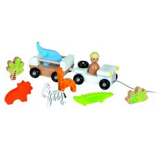 Go on an adventurous safari with this construct and play Zoo Jeep and ride-along animals. #kids