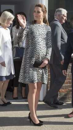 Catherine, Duchess of Cambridge is seen leaving the Resort Studios in Cliftonville on March 11, 2015 in Margate, England.
