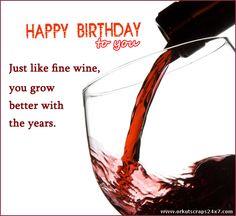 wine - Happy Birthday