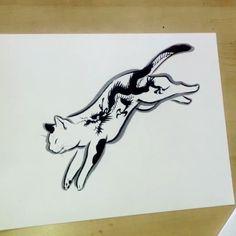Dragon Monmon cat #pentelcolorbrush#horitomo #monmoncat #monmoncats #cats #catart #cattattoo #tattooedcat  #japaneseart #neko #artvideo#猫絵#brush Japanese Design, Japanese Art, Cat Years, Year Of The Tiger, Cat Tattoo, Ink Art, Top Artists, Body Art Tattoos, Neko
