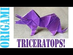 Origami Daily - 193: Triceratops - TCGames [HD] Welcome to the tcgames daily origami series. In this tutorial, I will show you how to make an origami Triceratops. Enjoy :D! Origami: Triceratops Designed by: Makoto Yamaguch