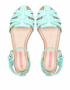 Bershka turquoise flat... amazing, love this color... so nice to summer...