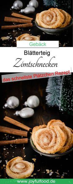 Rezept für super schnelle und total leckere Blätterteig Zimtschnecken. Das schnellte Plätzchenrezept. #plätzchen #rezept #blätterteig #zimtschnecken #zimt #weihnachtsbäckerei #gebäck #kekse #weihnachten #Advent #backen #schnell #einfach #lecker