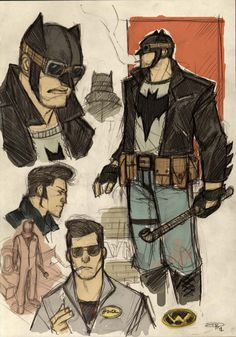 """after seeing this submission by Denis Medri I feel like DC missed out on something big time. Hailing from Italy, this artist dreamt up a 1950s greaser Batman that is startling at how great it is. """"Greaser Batman"""""""