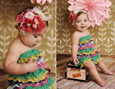 #CC Dancing Hearts Feather Rosette Headband by PoshBabyStore.com