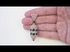 Tutorial orecchini: orecchini pendenti realizzati con perline, bicono e perle | Tutorial perline
