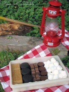 Make a smores box to store all of your supplies! So annoying to juggle the pack of crackers, the sticky bag of marshmallows, the candy bar... It wont change the world, but it will simplify my camping!