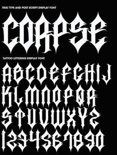 Ideas tattoo fonts gangster alphabet letters for 2019 Gothic Lettering, Chicano Lettering, Graffiti Lettering Fonts, Graffiti Alphabet, Cool Lettering, Typography Fonts, Lettering Design, Alphabet Letters, Number Tattoo Fonts