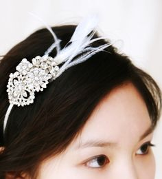 Wedding Vintage Inspired Rhinestone Headband  #ecomariage