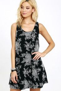 The Surf Swell Black Embroidered Swing Dress is definitely a wave we want to…