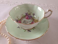 Paragon China Tea Cup and Saucer Mother by TheEclecticAvenue