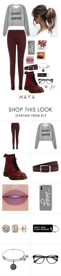 """""""Maya"""" by emilyramme ❤ liked on Polyvore featuring J Brand, Wildfox, Dr. Martens, Montblanc, Jeffree Star, Rebecca Minkoff, Diamond Splendor, Various Projects, EyeBuyDirect.com and Saks Fifth Avenue"""
