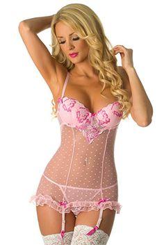 672fa0972 Velvet Kitten Second Date Pink Sexy Chemise Lingerie Set for Women 514547   Lingerie