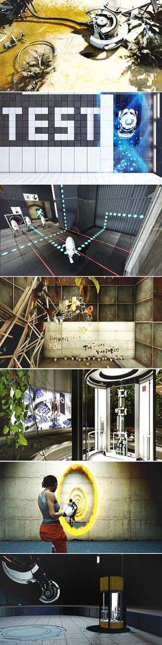 Portal 2. Whoever drew this is really good.