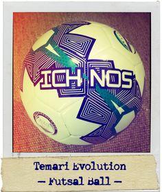 Ichnos Temari Evolution soccer 5 a side soccer futsal low bounce ball - Polaroid effect close up