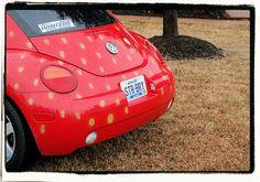 Strawberry car by boffthewall, via Flickr