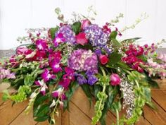 Orchids, Hydrangea, Roses and Bells of Ireland