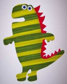 Dinosaur Fabric Applique TEMPLATE ONLY Conrad the by etsykim