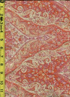 img9717 from LotsOFabric.com! A rich and heavy paisley pattern in warm red, pink, orange, and yellow. Order swatches online or shop the Fabric Shack Home Decor collection in Waynesville, Ohio. #drapery #upholstery #bedding #decor #interiordesign #inspo