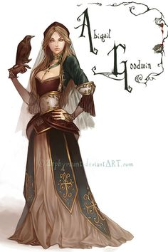 Abigail Goodwin by *Zephyrhant on deviantART Think I will use this for my next RPG character representation