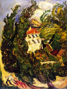 Chaim Soutine |  Landscape with red donkey, 1923-1924