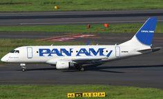 Pan Am livery on ERJ-170