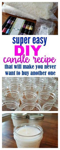 Super Easy DIY Candles