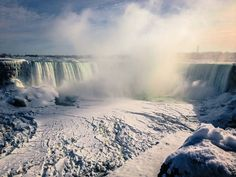 Frozen Niagara Falls in 2014. Last time this happened it was in 1911.