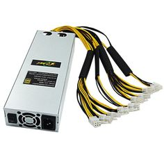 1600W Mining Rig Mining Power Supply For Antminer S9 S7 L3+ APW3 A6 A7 Machine Miner