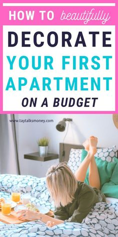 How to Decorate Your First Apartment on a Budget — TayTalksMoney Finally moving into your own space? Here's how to decorate your first apartment on a budget and still make it look stylish. The Sorry Girls, Savings Planner, First Apartment, Apartment Ideas, Frugal Living Tips, Tight Budget, Trends, Decorating On A Budget, Decorating Games