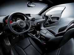The A1 quattro features white needles with a red faced rev counter and a colour Driver Information System. More information available from M25 Audi: www.a1audi.co.uk/a1-quattro.html