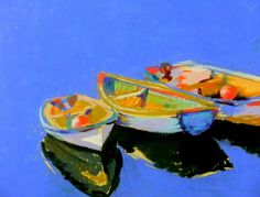 Three Colourful Boats