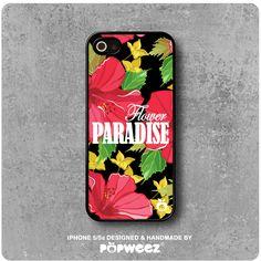 Coque iPhone 5 / 5s Fleurs Roses Flower : Etuis portables par popweez