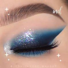 Buffer eyeshadow Makeup Tutorial- Step by step makeup- Teal Blue smokey eye makeup Eye Makeup Glitter, Bright Eye Makeup, Colorful Eye Makeup, Blue Eye Makeup, Prom Makeup, Smokey Eye Makeup, Makeup Geek, Eyeshadow Makeup, Makeup Art