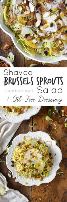 Shaved Brussels Sprouts Salad + Oil-Free Dressing | The Plant Philosophy