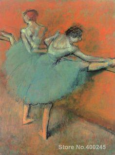 Resultat d'imatges de pinturas Degas bailarinas
