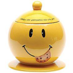 Smiley cookie jar