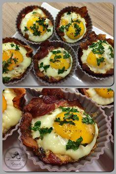 Homemade Egg in Bacon...egg, bacon, himalayan salt, pepper, parsley