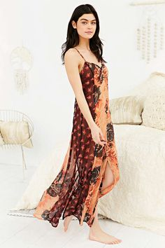 Staring At Stars Floral Maxi Slip Dress - Urban Outfitters